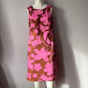 Tory Burch Floral Shift Knee Dress